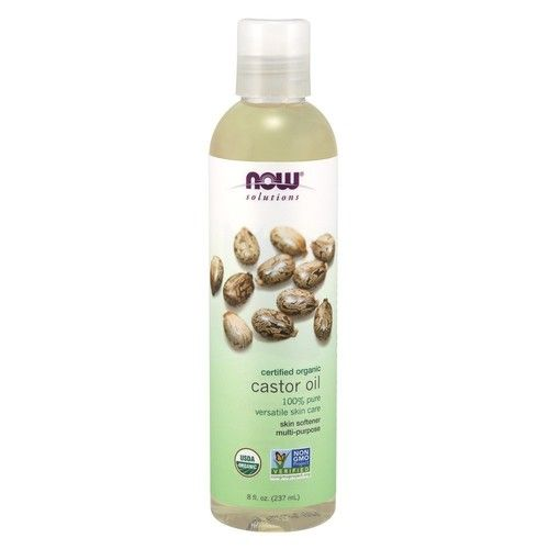 Now Solutions Organic Castor Oil, 8-Ounce