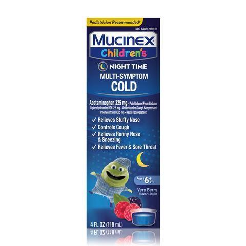 Mucinex® Children's Nighttime Multi-Symptom Cold - Very Berry
