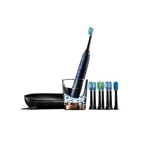 Philips Sonicare Diamond Clean Smart Electric Rechargeable Toothbrush for Complete Oral Care with Charging Travel Case, 9700 Series - HX9957/38, Lunar Blue, 3.19 Pound [9700]