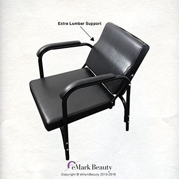 Auto-Reclining Shampoo Chair for Beauty Salon or Barber with Lumbar Support for Optimum Comfort with Extended Cushion Armrests TLC-216 - eMark Beauty