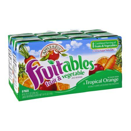 Apple & Eve Tropical Orange Fruitables Juice, 8 CT (Pack of 5)
