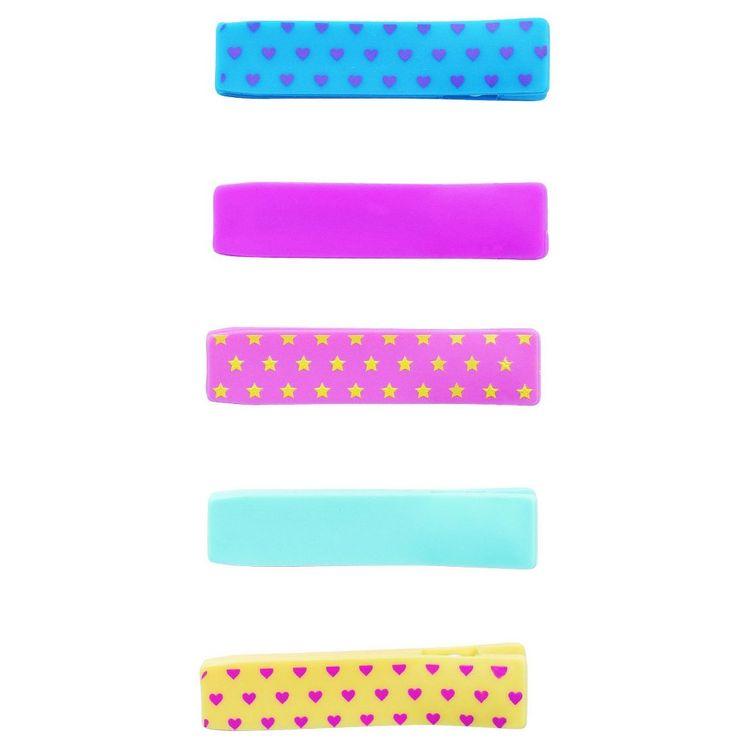 Remington Girls Salon Clips 5 ct, Multi-Colored