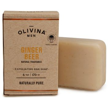Olivina Men Ginger Beer Exfoliating Bar Soap - 6oz