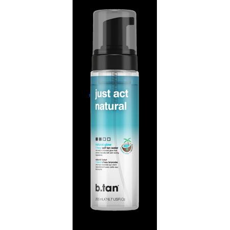 b.tan just act natural...self tan mousse, 6.7 fl oz