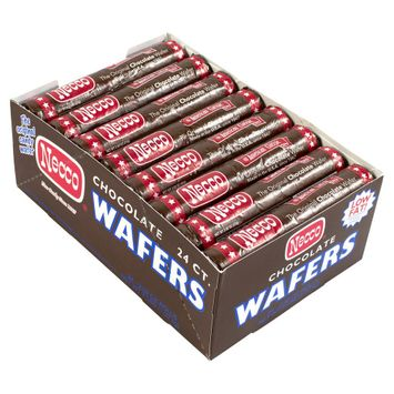 Necco Wafers Chocolate Roll 2.02 oz 24 Count