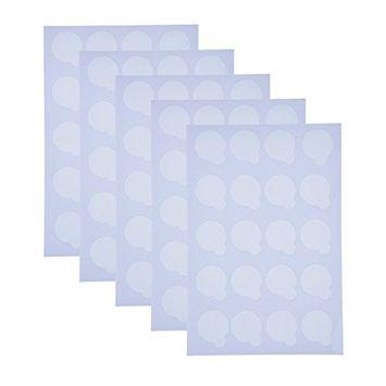 eBoot Disposable Eyelash Extension Adhesive Glue Pallet Sticker Pads 2.5 cm (100 Pieces, 5 Sheet)