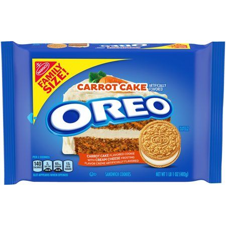 OREO Carrot Cake Sandwich Cookies, 1 - 17 oz Family Size Packages