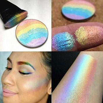 MSmask Rainbow Contour Highlighter Shimmer Kit Blush Blusher Powder Face Makeup