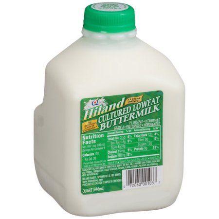 Hiland Cultured Lowfat Buttermilk, 1 qt