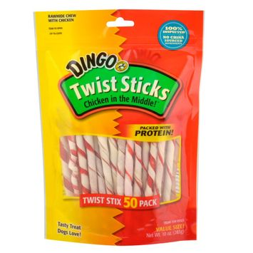 Dingo Twist Sticks Chicken in the Middle Rawhide Chews (No China Sour