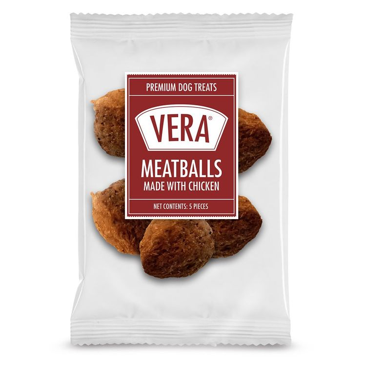 Vera Premium Meatballs Adult Dog Treat - Chicken size: 5 Count