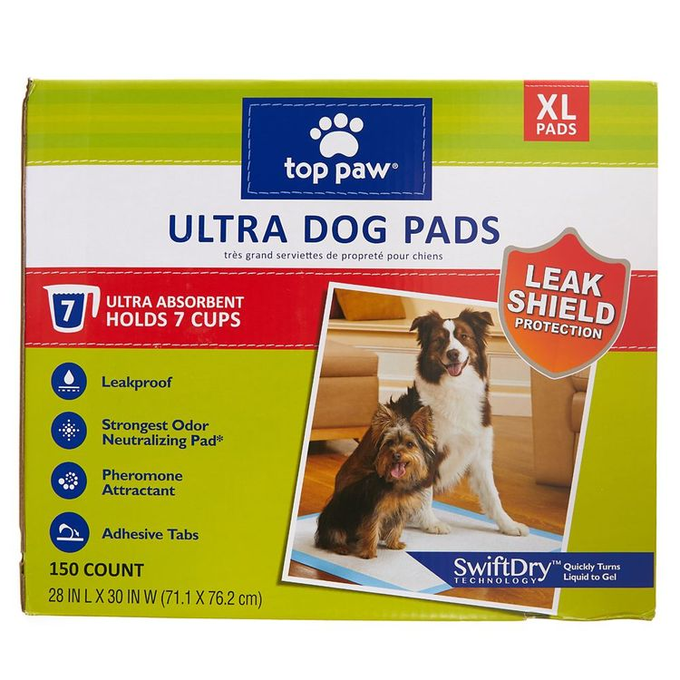 Top Paw X-Large Ultra Dog Pads size: 150 Count