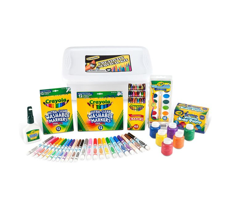 Crayola Deluxe Back to School Supplies Kit with Markers (Grades K-3)