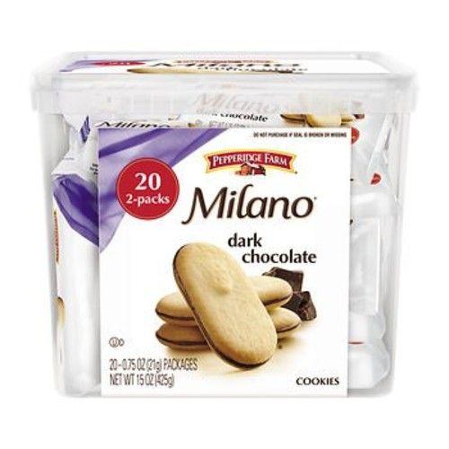 Pepperidge Farm Dark Chocolate Milano Cookies, 20 ct. x2
