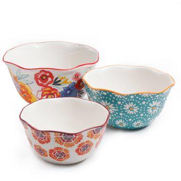 The Pioneer Woman Flea Market Wavy Nesting Bowl Set - 3 piece set