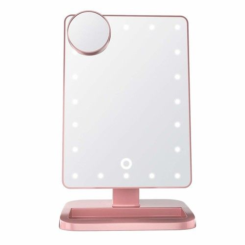 Impressions Vanity Hollywood Makeup Vanity Mirror with Lights and Bluetooth Speakers   Rose Gold Touch XL Dimmer LED Makeup Mirror with Bluetooth