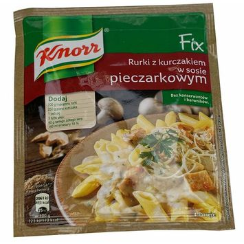 Knorr Mushroom Sauce for Pasta with Chicken, Pack of Ten, Net wt 1.16 oz (33g) per packet (10)
