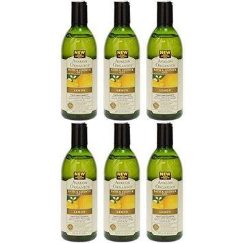 (6 PACK) - Avalon - Lemon Bath & Shower Gel   350ml   6 PACK BUNDLE by Avalon : Beauty