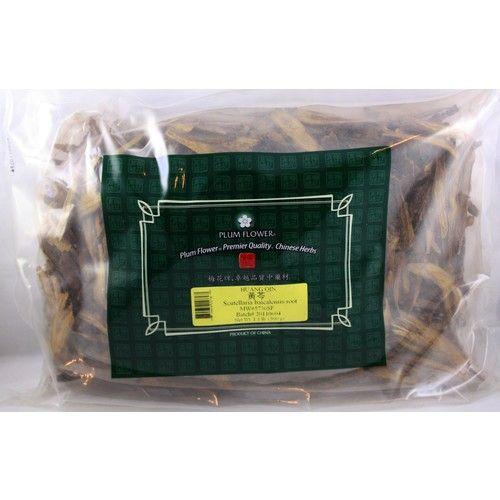 Scutellaria Root, Huang Qin, Skullcap Root, Cut 1 lb, Plum Flower, Bulk Herbs