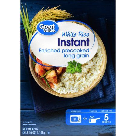 Great Value Instant White Rice Enriched Precooked Long Grain, 42 oz