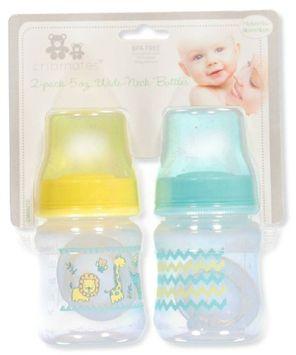 Cribmates 2-Pack Wide-Neck Bottles (5 oz.) - yellow/aqua, one size