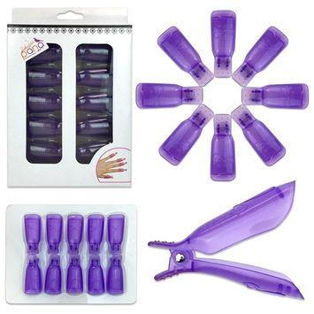 Pana High Quality Nail Polish Remover Clip Cap - Purple