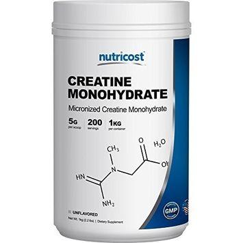 Nutricost Creatine Monohydrate Micronized Powder (1 KG), 5000mg Per Serve - Pure Creatine Monohydrate