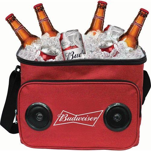 GabbaGoods Budweiser Bluetooth Cooler Speaker Budweiser Red - GabbaGoods Travel Coolers