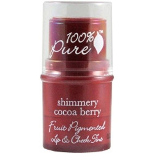 100% Pure Fruit Pigmented Lip & Cheek Tint, Shimmery Cocoa Berry- .26 oz by 100% Pure