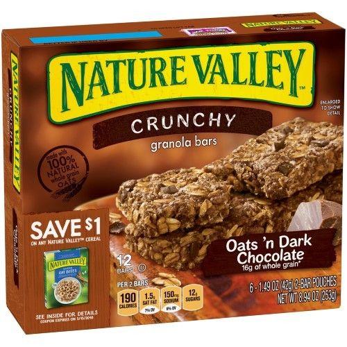 Nature Valley Oats 'n Dark Chocolate Crunchy Granola Bars