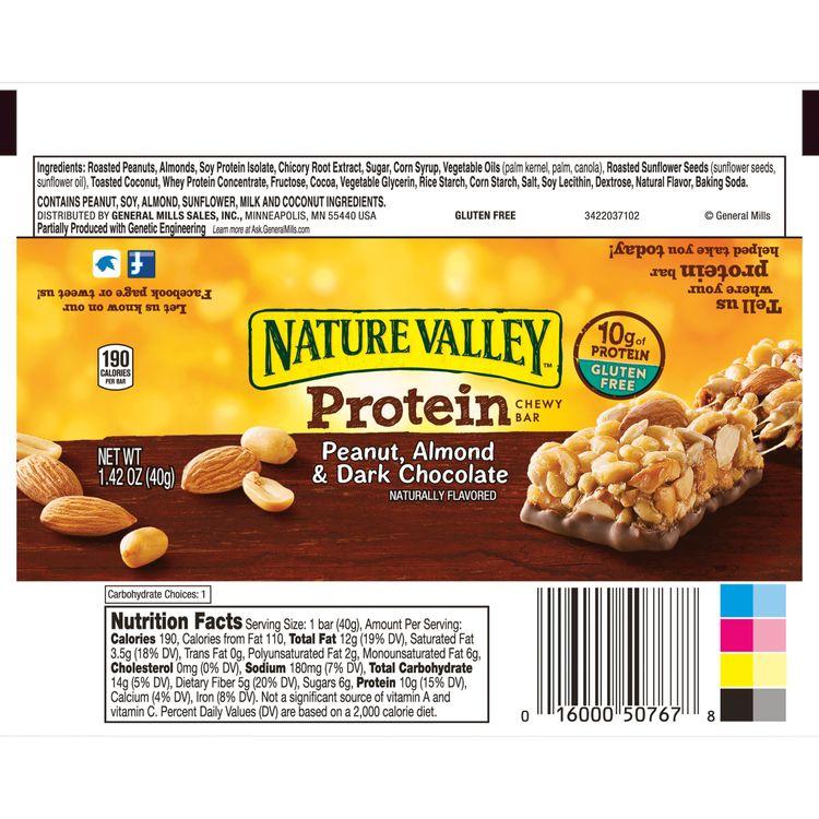 Nature Valley(tm) Protein Chewy Bar Gluten Free Peanut Almond and Dark Chocolate