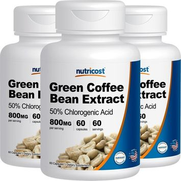 Nutricost Green Coffee Bean Extract (800mg) (60 Capsules) (2 Bottles)