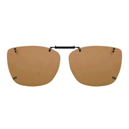 Solar Shield Unisex Rimless Polarized Driving SolarShield ClipOn Sunglasses SC12