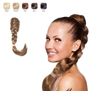 Buy 2 Hollywood Hair French Plat Hair Piece and get 1 Double Braid Headband - Light Golden Blonde (Pack of 3)
