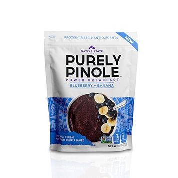 Purely Pinole Hot Power Cereal - Blueberry + Banana - 9.7oz bag - 1 Pack [Blueberry + Banana]
