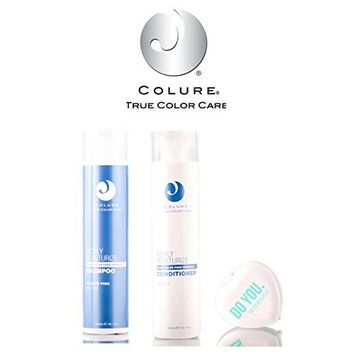 Colure True Color Care Richly Moisturize Shampoo & Conditioner DUO Set (with Sleek Compact Mirror)