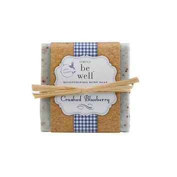 Simply Be Well 100% Hand Crafted Plant Based Body Bar Soap (Crushed Blueberry)
