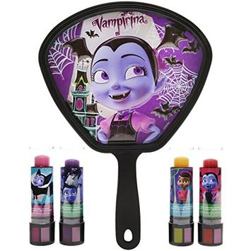 TownleyGirl Vampirina Super Sparkly Lip Balm Set for Girls, with 4 Mood Changing Flavors and Mirror
