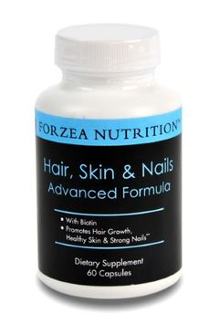 Forzea Nutrition Forzea Hair Skin & Nails Advanced Formula with Biotin - Promotes Hair Growth, Strong Nails and Healthy Skin - 60 Count