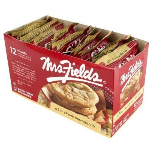 Mrs Fields White Chunk Macadamia Cookies - 12ct