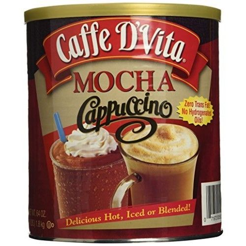 Caffe D'Vita Mocha Cappuccino 64 Oz. with free white chocolate sample