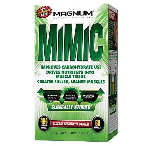 Magnum Nutraceuticals Mimic - 60 Capsules - Glucose Sensitivity System - Encourage Fat Loss - Increase Natural Energy - Reduce Recovery Time