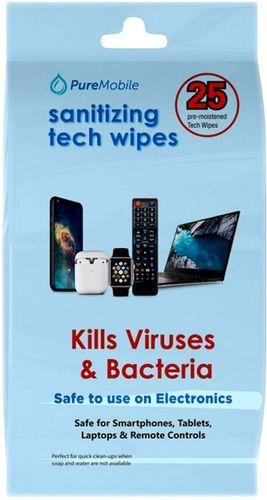 Vivitar - Sanitizing Tech Wipes (25-Pack) - White
