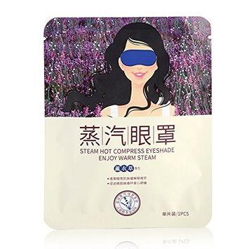 BIOAQUA Steam Eye Mask, Heated Eye Mask, Warm Eye Patch, Lavender Steam Warming Moisture Eye Pillow Eye SPA Mask Relieve Eye Tiredness Dry Puffy Eyes, Dark Circles, Fatigue Relieve