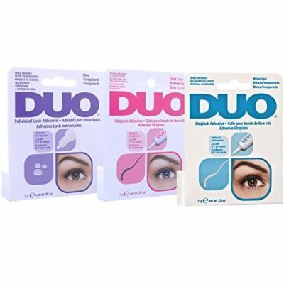 Duo 3 Pcs Eyelash Adhesive - Striplash Adhesive Dark Tone,White Clear And Individual Lash Adhesive White/Clear 7g