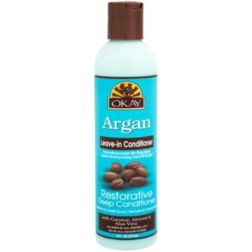 Leave In Conditioner Restorative Deep Conditioner - ARGAN (8 Fluid Ounces Liquid) by Okay Pure Natural at the Vitamin Shoppe