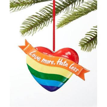 Love is Love Love More Hate Less Heart Ornament, Created for Macy's