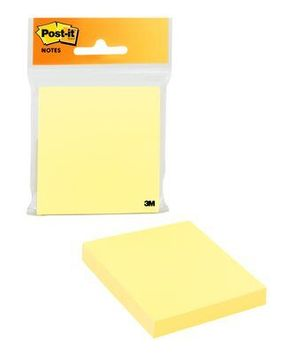 Post-it® Notes, 3 in x 3 in, Canary Yellow