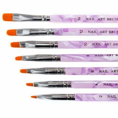 Maniology (formerly bmc) 7pc UV Gel Acrylic False Nail Art Tips Builder Painting Detailing Brush Set
