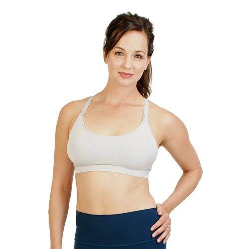 Bamboobies Nursing Bra, Maternity Underwear for Breastfeeding, Grey